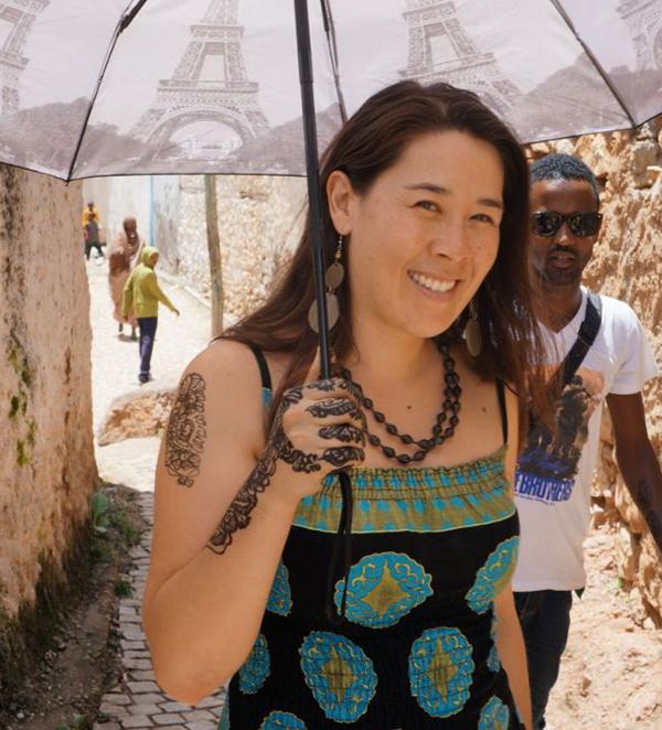 Ethiopia, Sara Feldman vising the walled city of Harar, EastAfricaTourOperator.net