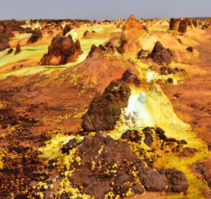 Ethiopia, Sulphur-Volcanic-Landscape-Dallol-Danakil-Desert-, EastAfricaTourOperator.net