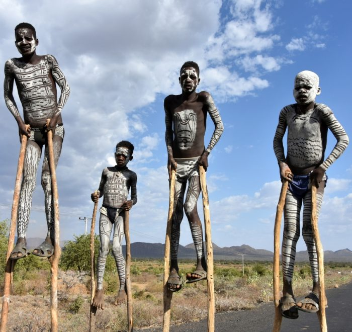 Ethiopia, boys from Benna tribe, EastAfricaTourOperator.net
