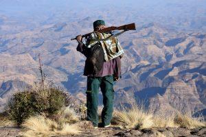 Ethiopia, Scout man at Semien Mountains National park, EastAfricaTourOperator.net