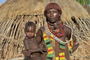 Ethiopia, Hammer women with her child, EastAfricaTourOperator.net