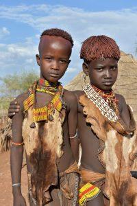 Ethiopia, Boys from Hamer Tribe, EastAfricaTourOperator.net