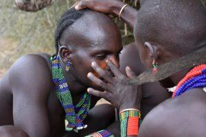 Ethiopia, Best man's Painting face from Hamer tribe, EastAfricaTourOperator.net